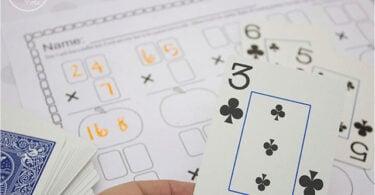 Deck of Cards Multiplication Worksheets