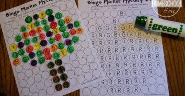 Bingo Marker Letter Mystery Picture Worksheets
