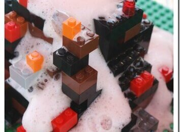 Lego Volcano Science Experiment