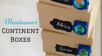 Study Geography with Continent Boxes