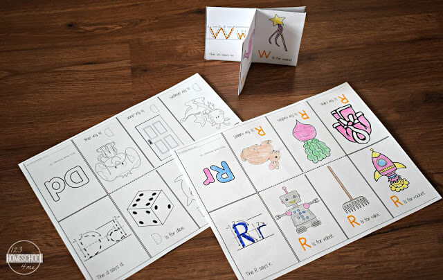 image about Printable Mini Booklets titled No cost Alphabet Mini E-book Printable 123 Homeschool 4 Me