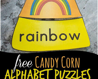 Super cute alphabet activity for preschoolers and kindegartnerrs - candy corn phonics puzzles