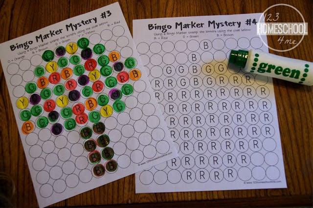 bingo alphabet worksheets