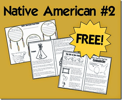 native americans - plains tribes includes free printable book, tribe comparisson, and more!