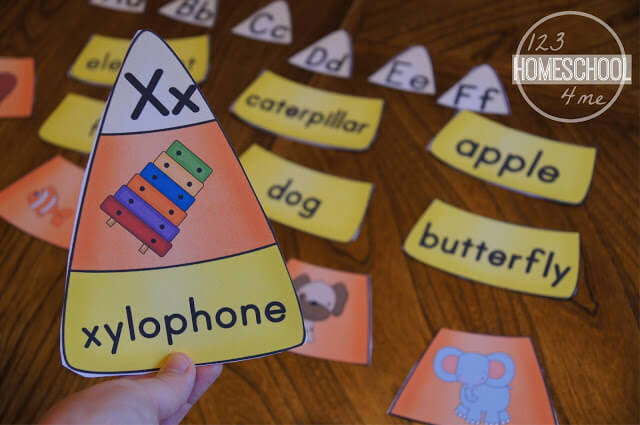 Candy Corn Phonics Puzzles