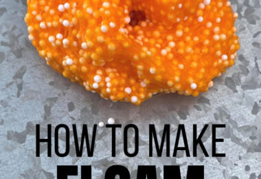 Slime is fun but have your kids tried floam? It is an elevated slime with extra sensory aspects! You can squish it, pull it, squeeze it and smash it, just like slime but it's extra fun and great for sensory play with toddler, preschool, pre-k, kindergarten, and first grade students! This super simple floam recipe is inexpensive making diy slime so much better than store bought slime!