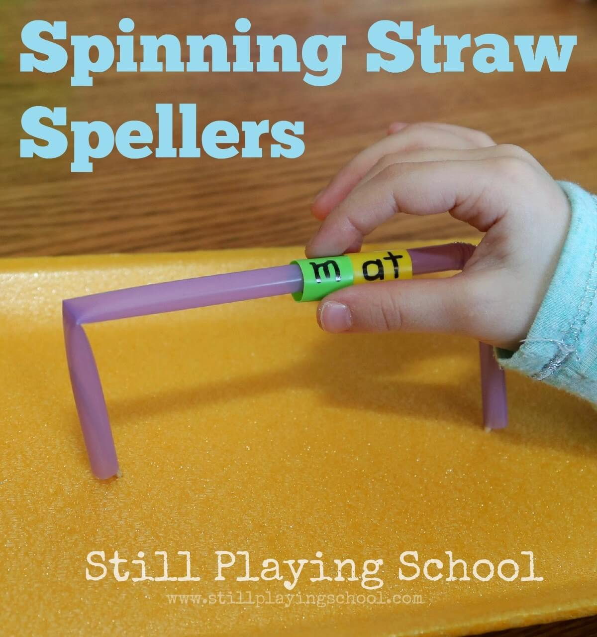 spelling with straws
