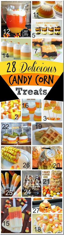 28 Delicious Candy Corn Treats - perfect fall snack for kids. YUMMY!