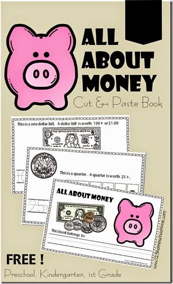 FREE Cut and Pates MOney book to learn about american money