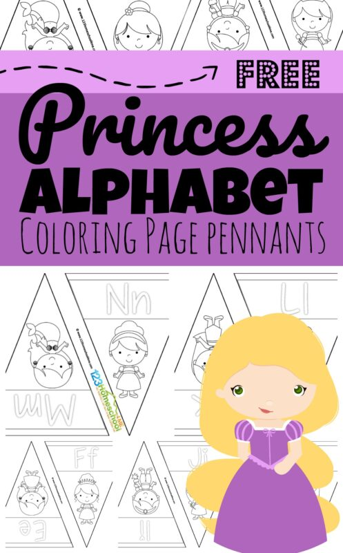 Girls are going to love coloring these super cute and simpleDisney princess alphabet coloring pages. These free printable, princess themed, alphabet pennants are a great way for toddler, preschool, pre k, kindergarten, and first grade students to learn their ABCs! Simply decorate these pennants and hang them on your wall to reference how to make upper and lowercase letters from A to Z.