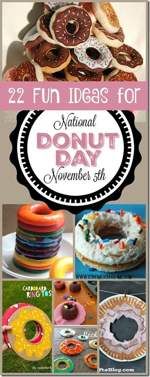 November 5th is National Donut Day! Here are tons of fun and clever donut activities to celebrate this fun holiday! These donut crafts, donut activities, and donut books to plan a fun, memorable day for toddler, preschool, pre k, kindergarten, first grade, 2nd grade, and 3rd grade kids.