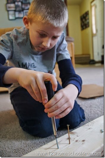 Observing the effects of inclined planes on screws