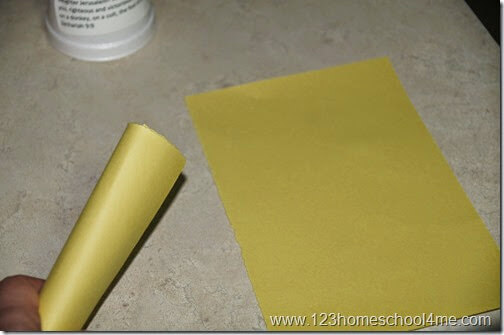 roll up construction paper