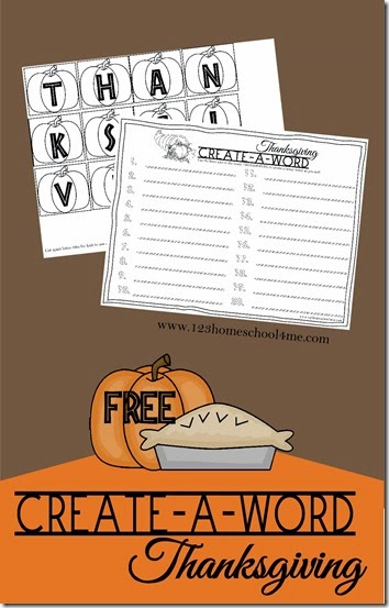 Help kids practice thinking of, creating, and spelling words with this fun thanksgiving spelling activities. Simply download the pdf file with the pumpkin letters that spell thanksgiving. Now use the create a word thanksgiving spelling worksheet to create as many words out of those letters as you can. You can do this spelling game as a competition or individually as a personal challenge.  This spelling activity is a simple, free printable activity for kindergarten, first graders, 2nd graders, 3rd graders, 4th graders, 5th graders, and 6th graders too.