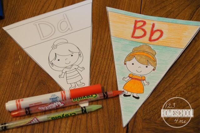 Princess alphabet coloring pages