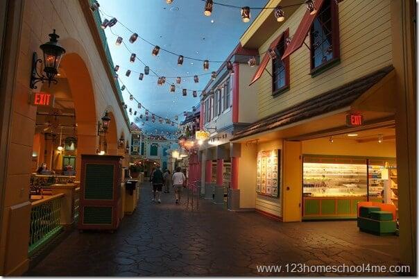 caribbean beach resort food court