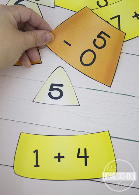 candy corn puzzles are a super cute, free printable, fall printables math for grade 1 and grade 2