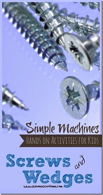 Wedges & Screws Simple Machines Lesson | 123 Homeschool 4 Me