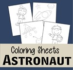 FREE Astronaut Coloring Sheets