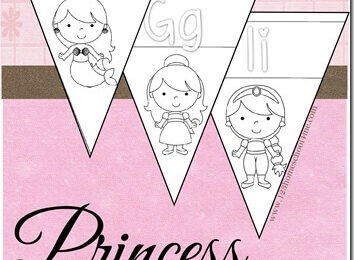 Disney Princess Alphabet Wall Cards