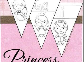 Disney Princess Alphabet Wall Cards