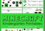 FREE Minecraft Worksheets for Kids