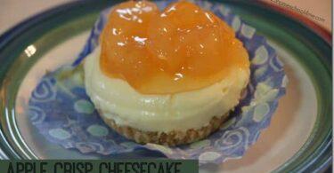 Apple Crisp No Bake Yogurt Cheesecake Recipe