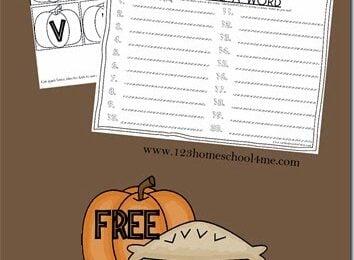 Thanksgiving-Spelling-Activity