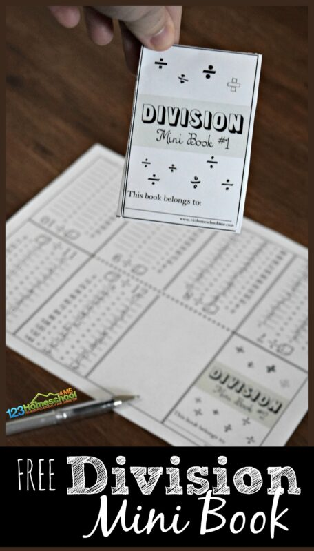 FREE Divsion Mini Book - This is such a fun math worksheets that folds into a clever book. Great math practice and reference for 2nd grade, 3rd grade, 4th grade, 5th grade, and 6th grade. LOVE THIS IDEA!