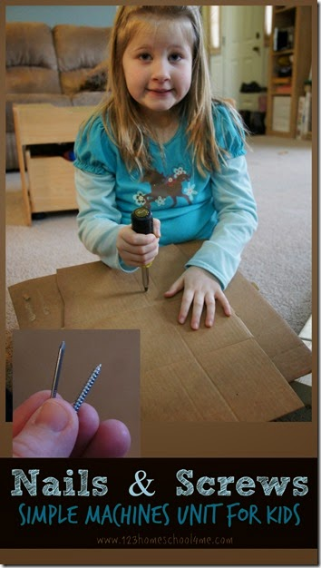 nails and screws simple machines unit for kids