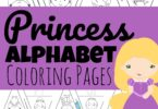 alphabet princess printables