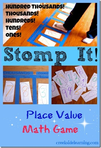 Stop It Place Value Math Game - This is such a fun way for kids to learn thousands, hundreds, tens, and ones place value for 1st grade, 2nd grade, 3rd grade, and 4 th grade kids.