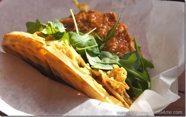 waffle sandwich is the best quick service restaurant at Disney World