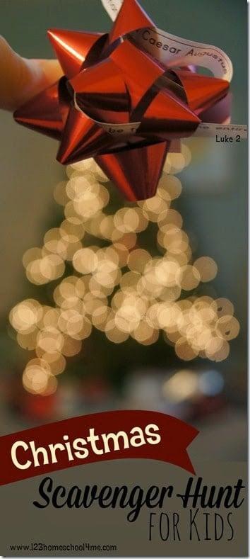 Christmas Story For Preschoolers.Christmas Story Scavenger Hunt For Kids 123 Homeschool 4 Me