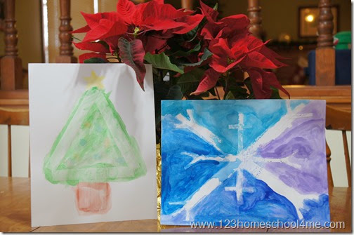 Christmas Craft for Kids - Painting Mystery Pictures
