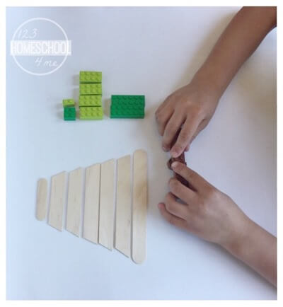 Christmas Lego STEM Activity for Kids, Christmas Math
