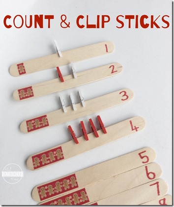 Count and Clip Sticks (Preschool Counting Activity)