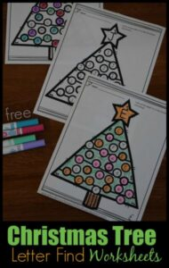 Chrsitmas Tree Letter Find