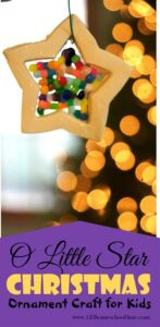 Star Christmas Ornament Craft for Preschoolers