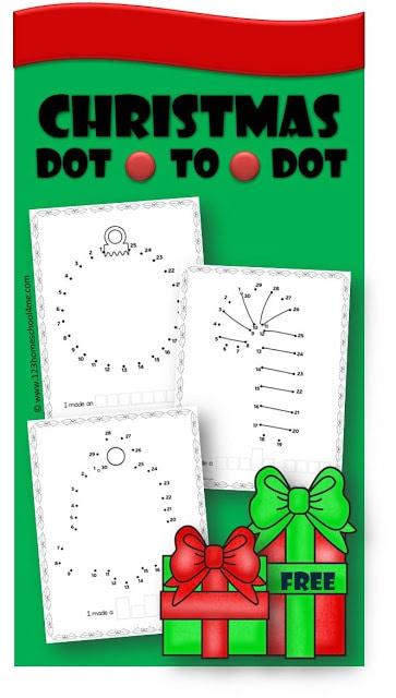 Christmas Dot to Dot Printables