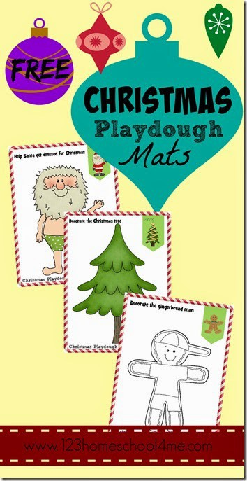 FREE Christmas Play doh Mats - These free printable playdough worksheets are super cute and perfect for toddlers, preschool, and kindergarten kids to use to create and play. This Fun Christmas Activity for kids in December #christmas #christmasprintables #playdoughmats