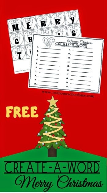 FREE Christmas Spelling Activity - This is such a fun way for kidsin K-6th grade to practice creatig words! #christmasprintables #christmasspelling #homeschooling