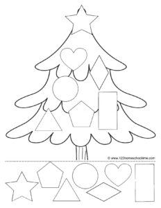cut and paste christmas printables for toddler, preschool, pre-k, and kindergarten