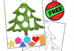 Christmas Shapes Cut & Paste Worksheets