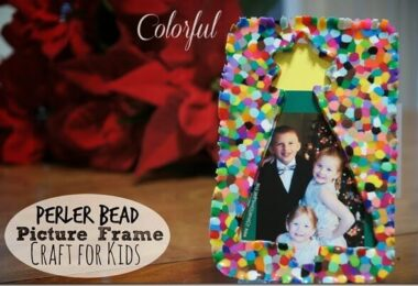 Perler Bead Picture Frame Craft for Kids