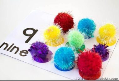 Counting to 10 Pom Pom Cards