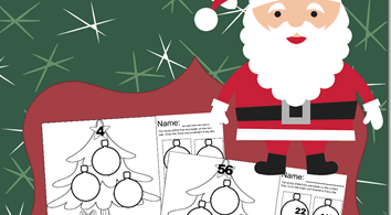 Christmas Cut and Paste Math Worksheets