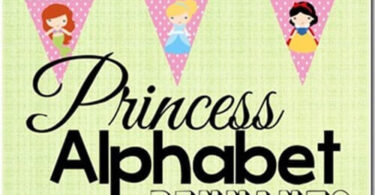 FREE Princess Alphabet Pennants