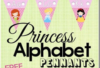 FREE Princess Alphabet Pennants