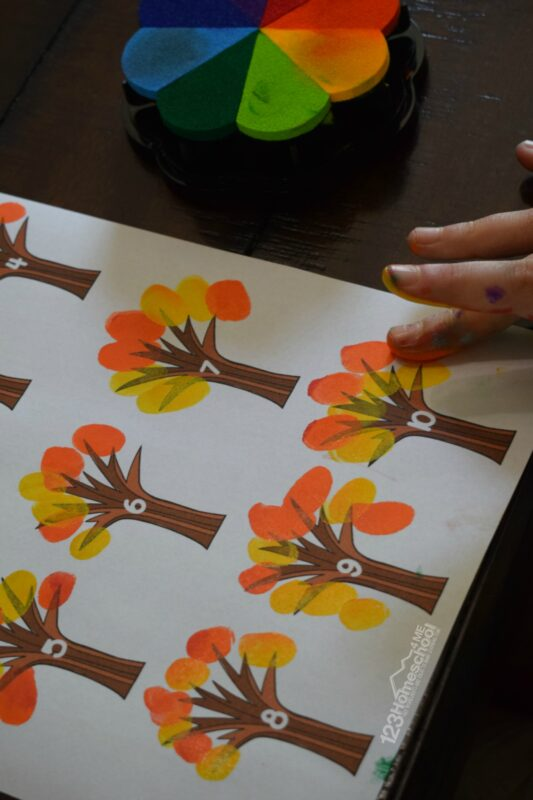 Super cute fingerprint craft that is fun to make and beautiful too